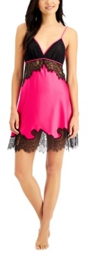 INC International Concepts Inc Satin & Lace Chemise Nightgown, Created for Macy's