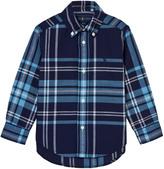 Ralph Lauren Navy and Blue Check Linen Shirt