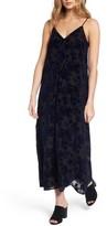 Hinge Women's Burnout Velvet Midi Dress