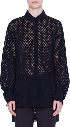 Akris Punto Dot Organza Tunic Shirt