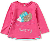 Joules Baby/Little Girls 12 Months-3T Fava Knit Hedgehog Babydoll Top