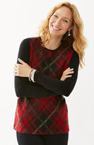 J. Jill Plaid Brushed Sweater