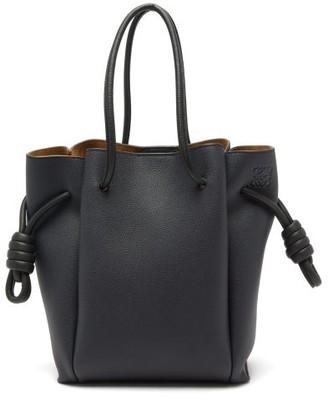 Loewe Flamenco Small Leather Tote Bag - Blue