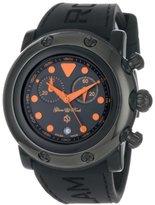 Glam Rock Women's GR61114 Miami Beach Chronograph Black Dial Black Silicone Watch