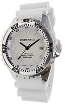 Momentum Women's Quartz Stainless Steel and Rubber Diving Watch, Color:White (Model: 1M-DN11LS1W)
