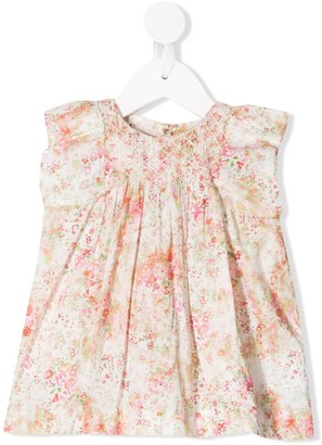 Bonpoint Sleeveless Floral Print Dress