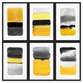 Marmont Hill Transitions Hexaptych 90-Inch Square Wall Art in Yellow