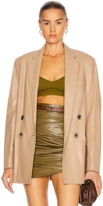 ZEYNEP ARCAY Gem Leather Jacket in Beige | FWRD