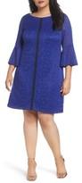 Gabby Skye Plus Size Women's Bell Sleeve Lace Dress