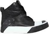 Boris Bidjan Saberi Kangaroo Leather High Top Sneakers