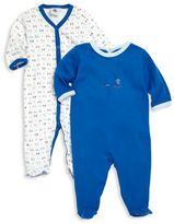 Petit Bateau Baby's Two-Piece Footie Set