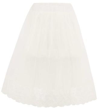 Simone Rocha Layered Tulle Skirt - Womens - Ivory