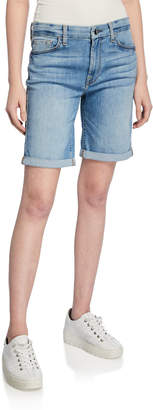 7 For All Mankind Jen7 by Bermuda Shorts with Rolled Cuffs