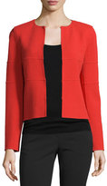 Armani Collezioni Long-Sleeve Tonal-Striped Jacket, All In Red