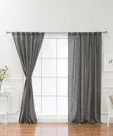 Best Home Fashion Ivory Abelia Belgian Linen Curtain Panel