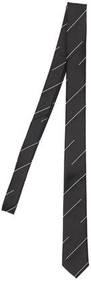 Saint Laurent 4cm Stripe Jacquard Silk Tie