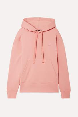 Acne Studios Ferris Face Appliqued Cotton-jersey Hoodie - Blush
