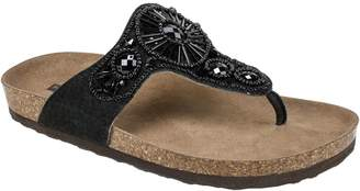 White Mountain Suede Leather Thong Sandals - Hanaleigh