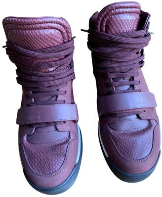 Louis Vuitton Burgundy Water snake Trainers