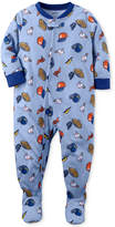 Carter's 1-Pc. Sports-Print Footed Pajamas, Baby Boys