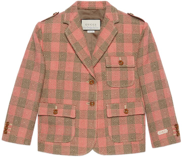 Thumbnail for your product : Gucci Petit optical damier wool jacket