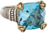 Judith Ripka Topaz & Diamond Ring