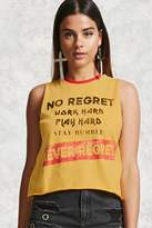 Forever 21 No Regret Graphic Tank Top
