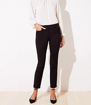 LOFT Velvet Dot Skinny Ankle Pants
