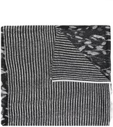 Missoni striped foliage knit scarf