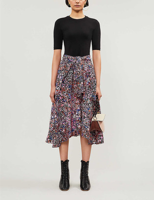 Maje Rinto cotton-jersey floral dress