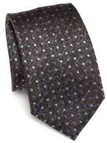 Saks Fifth Avenue COLLECTION Polka Dotted Silk Tie