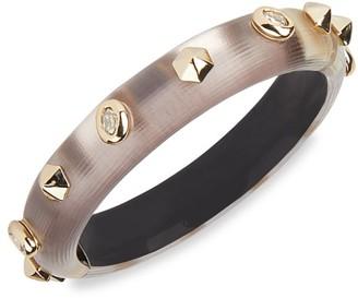 Alexis Bittar Crystal Studded Lucite Hinge Bracelet