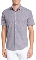 Stone Rose Men's Geometric Print Sport Shirt