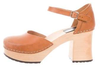 0bce731ca Leather Wooden Clogs - ShopStyle