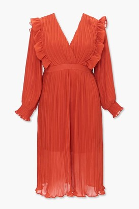 Forever 21 Plus Size Accordion-Pleated Dress