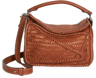 Loewe Small Puzzle Woven Leather Bag