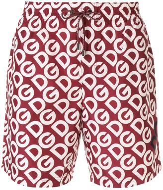 Dolce & Gabbana Logo-Print Swimming Shorts