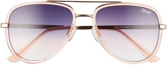 Quay All In 52mm Mini Aviator Sunglasses