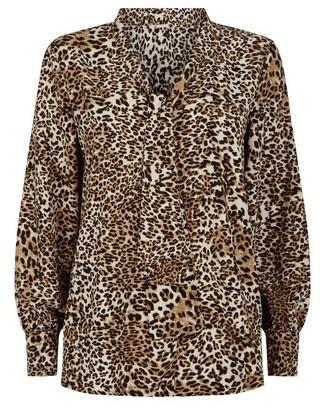 Dorothy Perkins Womens Vesper Multi Colour Leopard Print Blouse, Leopard
