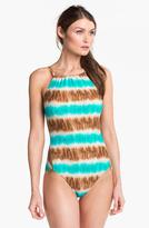 MICHAEL Michael Kors High Neck One-Piece Swimsuit