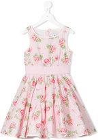MonnaLisa floral print dress - kids - Cotton/Polyamide - 2 yrs