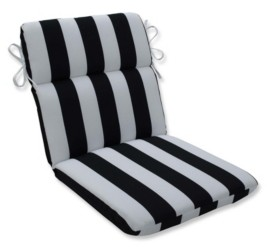 Pillow Perfect Cabana Stripe Rounded Corners Chair Cushion
