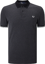 Fred Perry Chequerboard Print Pique Polo Shirt