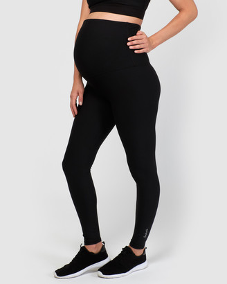 dk active - Women's Black Full Tights - Lotus Maternity Full Length Tights - Size One Size, S at The Iconic