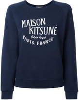 MAISON KITSUNÉ 'palais royal' print sweatshirt - women - Cotton - L