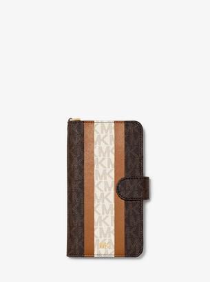 MICHAEL Michael Kors Logo Stripe Wristlet Folio Case For iPhone XR