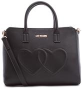 Love Moschino Women's Love Heart Embossed Tote Bag Black