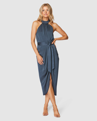 Pilgrim Women's Navy Midi Dresses - Addy Midi Dress - Size One Size, 8 at The Iconic