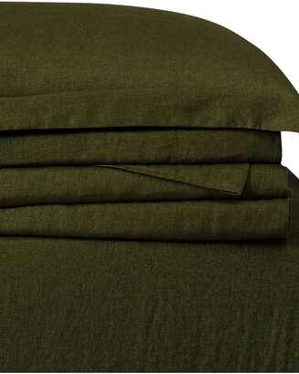 Brooklyn Loom Linen Olive Green Sheet Set Sheet Set