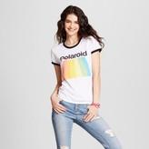 Mighty Fine Women's Polaroid® Graphic Ringer T-Shirt White Juniors')